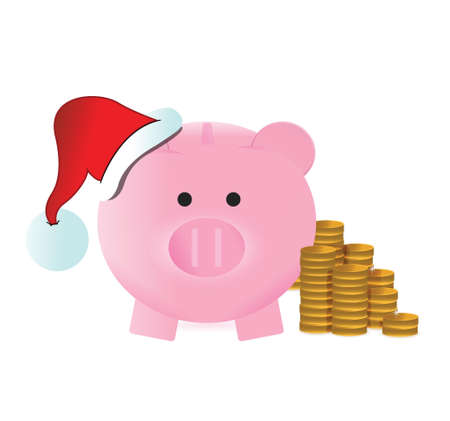 christmas savings: christmas savings concept illustration design over a white background