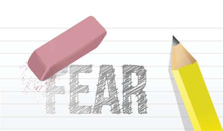 erase fears concept illustration design over a white background Ilustração