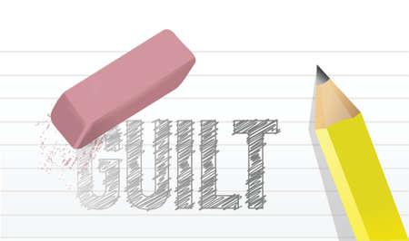righteousness: erase guilt concept illustration design over a white background