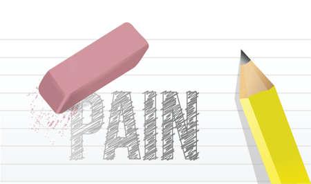 erase pain concept illustration design over a white background Illustration