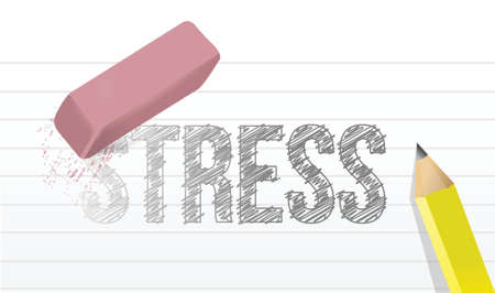 mobbing: erase stress concept illustration design over a white background