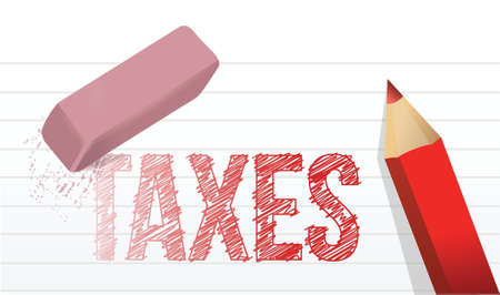 taxation: erase taxes concept illustration design over a white background