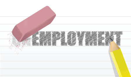 erase unemployment concept illustration design over a white background Vector