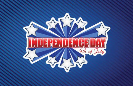 star spangled: fourth of july, independence day patriotic illustration design background