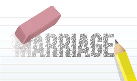 lovesickness: erase marriage concept illustration design over a white background