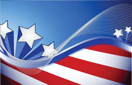 us patriotic red white and blue illustration design background Vector