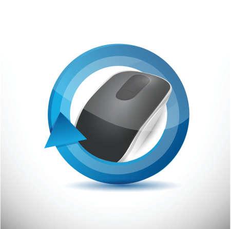 input device: technology rise concept illustration design over white