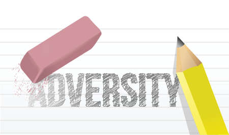 adversity: erasing adversity concept illustration design over a white background