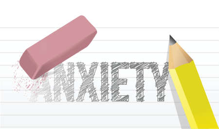 necessary: deleting anxiety concept illustration design over a white background Illustration