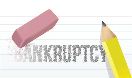 erase bankruptcy concept illustration design over a white background Stock Vector - 20046318