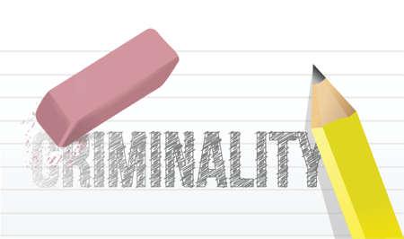 culpable: erase criminality concept illustration design over a white background Illustration