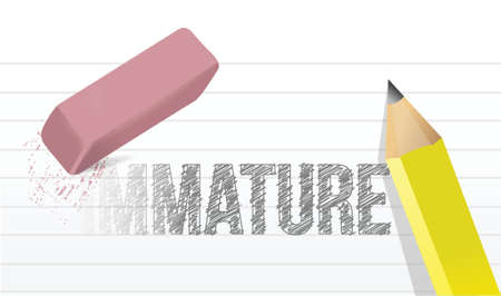 immature: change immaturity concept illustration design over a white background