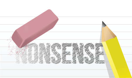 babble: erasing nonsense concept illustration design over a white background