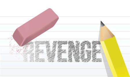 venganza: borrar concepto de dise�o venganza ilustraci�n sobre un fondo blanco