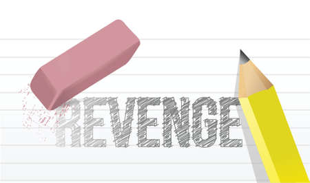 revenge: erasing revenge concept illustration design over a white background Illustration
