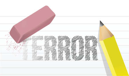 consternation: erasing terror concept illustration design over a white background