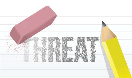 presage: erasing threat concept illustration design over a white background