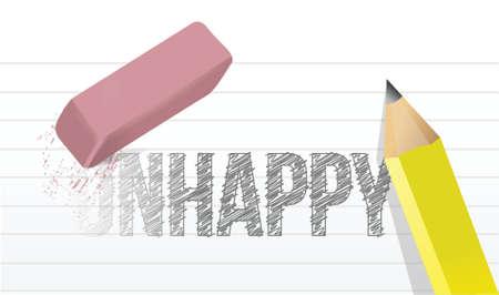 cabizbajo: borrar concepto de dise�o infeliz ilustraci�n sobre un fondo blanco