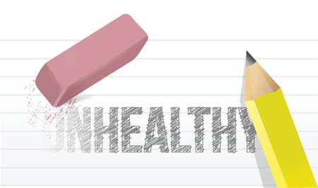 infirm: erasing unhealthy concept illustration design over a white background