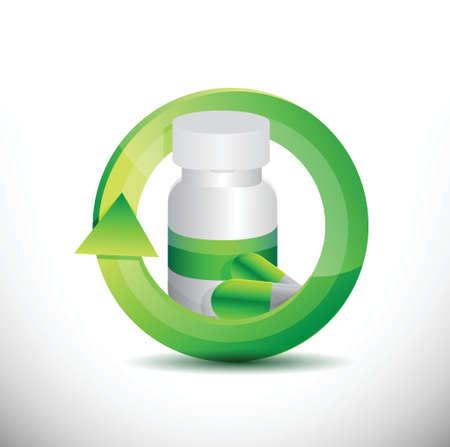 medicine 360 design concept illustration design over white