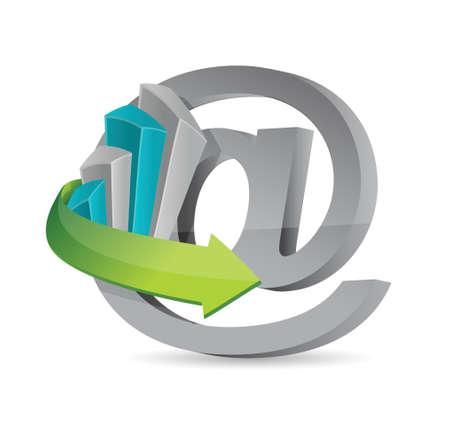 internet business concept illustration design over white Reklamní fotografie - 20046366