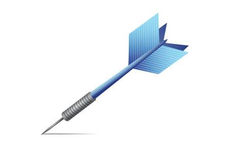 blue dart illustration design over a white background 向量圖像