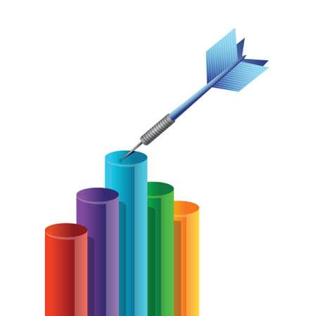 target success in business concept illustration design over white Illustration