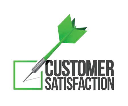 Ziel guter Kundenservice Konzept Illustration, Design in weiß Standard-Bild - 20046372