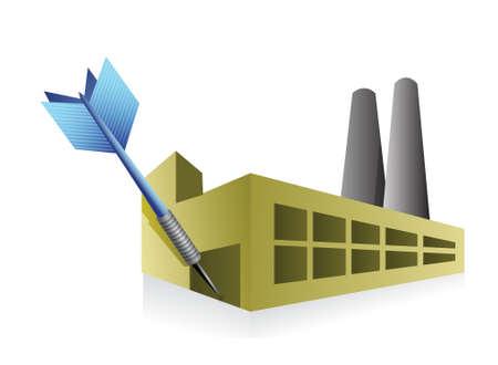 target good industrial business. Illustration design over white Illustration