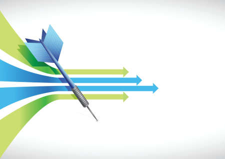 accurate: Business leader arrow illustration design over white