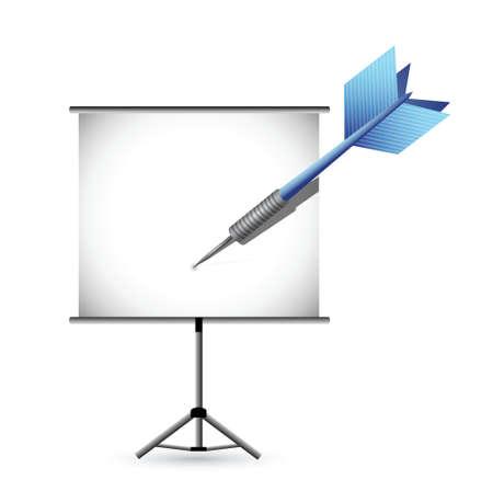 presentation concept illustration design over a white background Vector