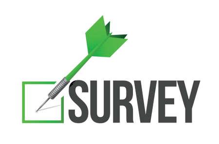 satisfy: survey target illustration design over a white background