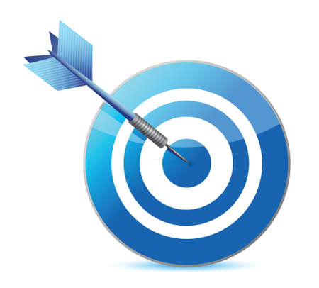target and dart illustration design over a white background