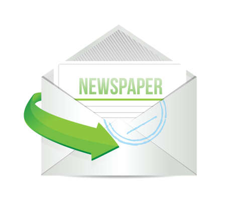 article icon: newspaper email information concept illustration design over white