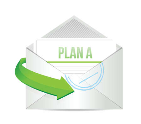 plan a email information concept illustration design over white Stock Vector - 20068976
