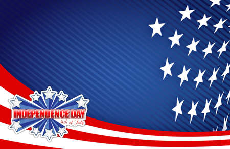 labor strong: fourth of july, independence day patriotic illustration design background