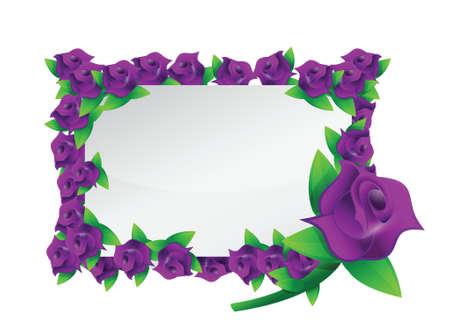petal: flower purple frame illustration design over a white background Illustration