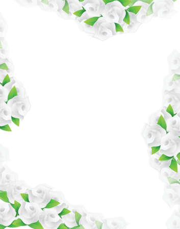 white flowers frame illustration designs over a light background Stock Vector - 20151974