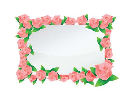 pink flowers frame illustration designs over a light background Stock Vector - 20151966