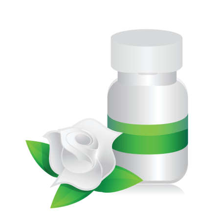 natural pills illustration design over a white background Stock Vector - 20151950