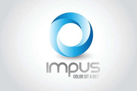 Affari tondo logo simbolo illustrazione di progettazione su bianco