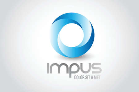 pętla: Logo firmy okrągły symbol projektowania ilustracji na białym Ilustracja