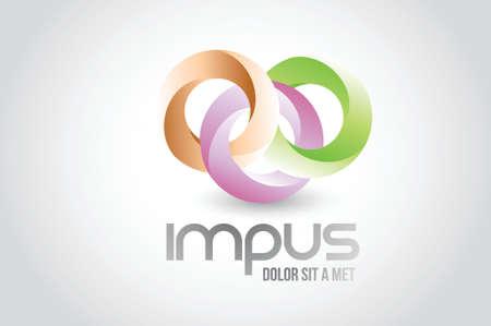 Affaires autour lien cercles logo symbole conception d'illustration sur fond blanc