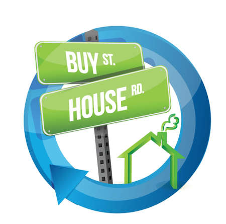 buy house real estate road symbol illustration design over white