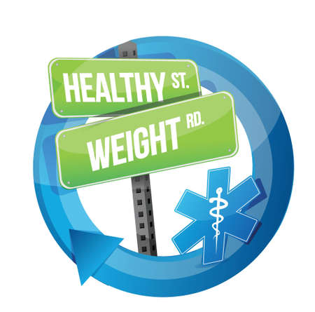healthy weight road symbol illustration design over white Stock Vector - 20151940