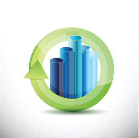 business cycle illustration design over a white background