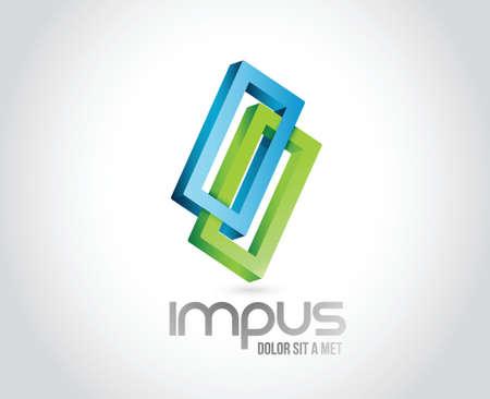infinite shape: Infinite shape. business illustration design over a white background