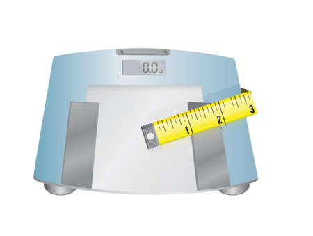 weight scale and measure tape illustration design Stock Vector - 20151917
