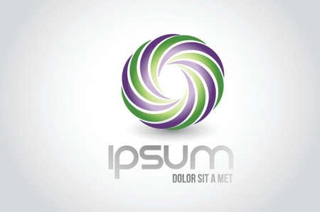 infinity concept logo symbol illustration design over white Illustration