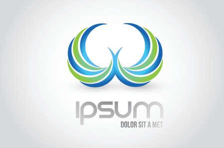 tending: wings logo symbol illustration design over white